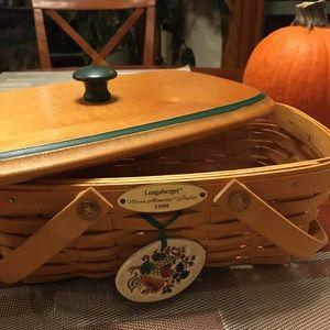 Vintage 1999 Woven Memories Basket Custom Made